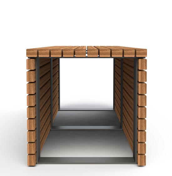 Dublin Bench - Enviroslat Walnut