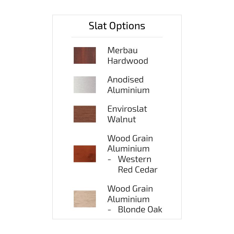 Slat Options