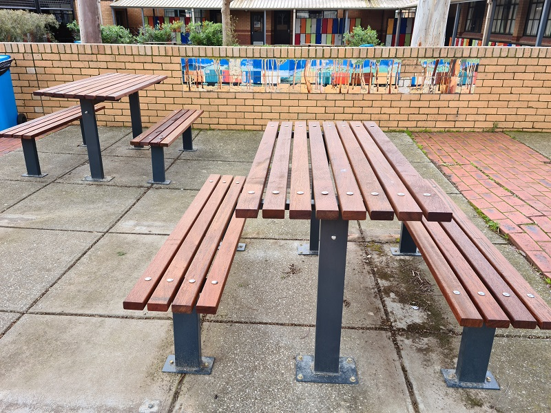 Woodville Setting with Benches - Merbau Hardwood