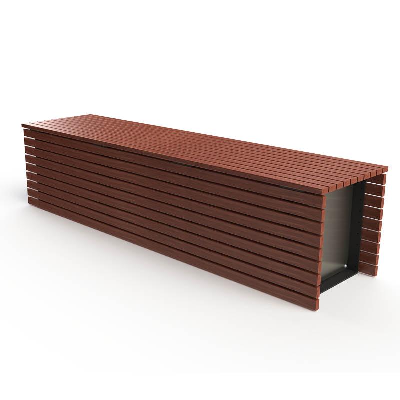 Dublin Bench - Merbau Hardwood with End Caps