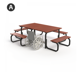 Liverpool Setting - 4-Sided Wheelchair Accessible (Option A) - Merbau Hardwood